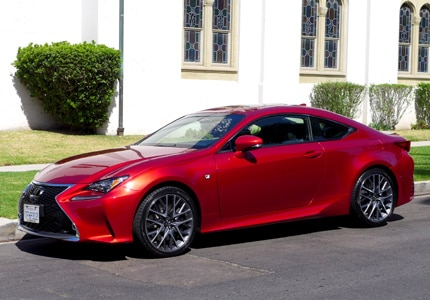 A driver-side view of the 2015 Lexus RC 350 Coupe