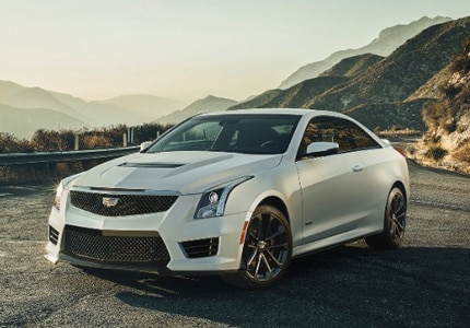 The Cadillac ATS-V Coupe, one of GAYOT's Top 10 Sports Coupes
