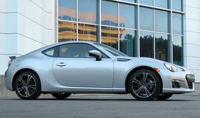 A side view of a 2013 Subaru BRZ