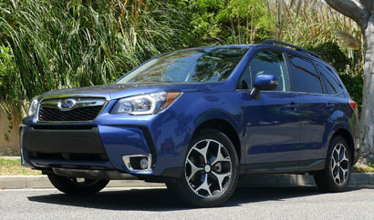 The Subaru Forester, one of GAYOT's Top 10 Fuel-Efficent Cars for 2014