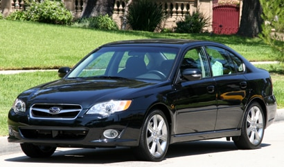 A three-quarter front view of a 2008 Subaru Legacy3.0 R Limited