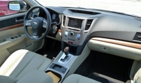 An interior view of the 2013 Subaru Outback