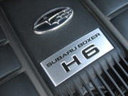 A view of the 2006 Subaru B9 Tribeca's six-cylinder Boxer engine