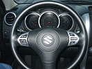 The Suzuki Grand Vitara's steering wheel