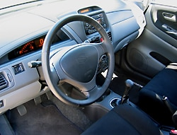 An interior view of the 2004 Suzuki Aerio SX