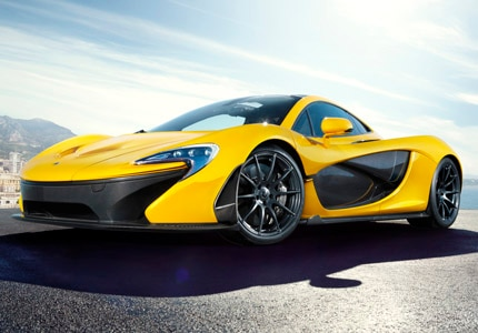 A three-quarter front view of the McLaren P1