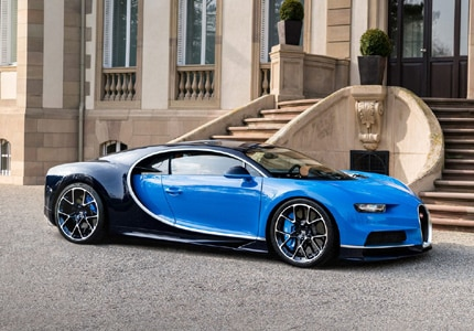 A side view of the 2017 Bugatti Chiron