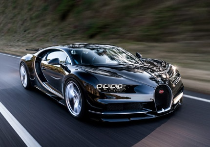 The 2017 Bugatti Chiron, one of GAYOT's Top 10 Supercars