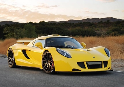A side view of the 2017 Hennessey Venom GT