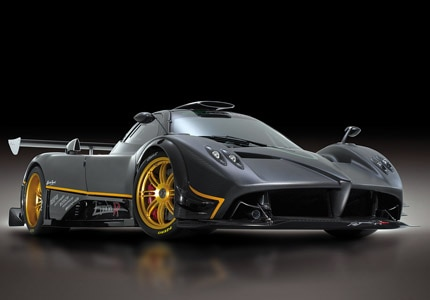 A three-quarter front view of the Pagani Zonda R