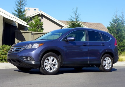 A three-quarter front view of the Honda CR-V EX-L AWD