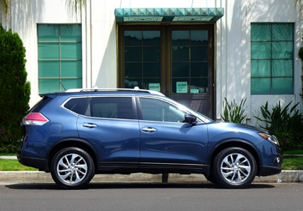 A side view of the Nissan Rogue SL AWD