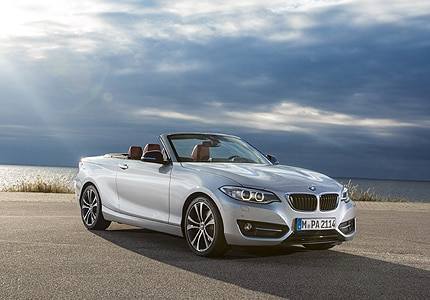 A three-quarter front view of a 2016 BMW 2-Series Convertible