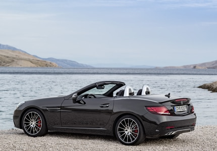 The 2016 Mercedes-Benz SLC Roadster, one of GAYOT's Top 10 Convertibles