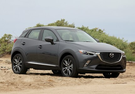 A three-quarter front view of the 2016 Mazda CX-3
