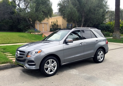 A 2016 Mercedes-Benz GLE400 4MATIC SUV, one of GAYOT's Top 10 Cars for Moms