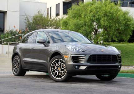 A three-quarter front view of the Porsche Macan S, one of GAYOT's Top 10 SUVs