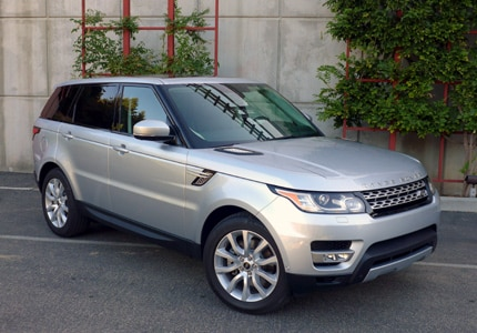 A three-quarter front view of the Range Rover Sport
