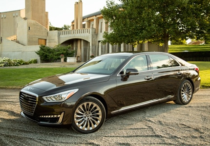 The 2017 Genesis G90, one of GAYOT's Top 10 Luxury Sedans