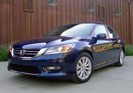 A three-front view of the 2013 Honda Accord, one of GAYOT's Top 10 Family Sedans