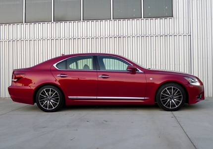 A right side view of the 2013 Lexus LS 460 F Sport