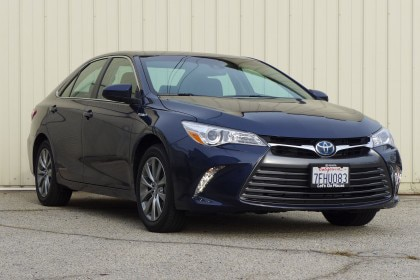 Check out the GAYOT review of the The Toyota Camry Hybrid XLE