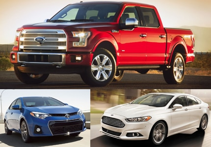 Familiar faces make up GAYOT's list of the Top 10 Best Selling Vehicles in 2014