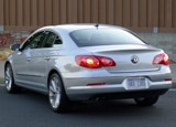 A three-quarter rear view of a silver 2012 Volkswagen CC Lux Limited