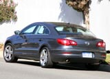 A three-quarter rear view of a 2009 Volkswagen CC VR6 4Motion