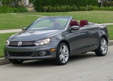 A three-quarter front view of a Volkswagen Eos