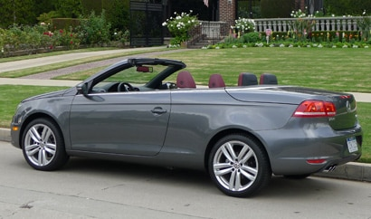 A side view of a 2012 Volkswagen Eos Executive