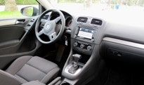 The interior of the 2010 Volkswagen Golf TDI