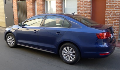 The Volkswagen Jetta Hybrid, one of GAYOT's featured hybrid cars