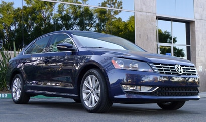 A three-quarter front view of a Volkswagen Passat 3.6L SEL