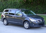 A three-quarter front view of a 2012 Volkswagen Routan