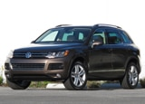 A three-quarter front view of a 2011 Volkswagen Touareg TDI