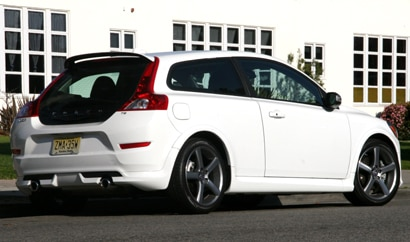 A three-quarter rear view of a 2011 Volvo C30