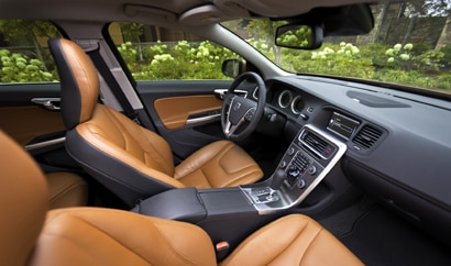 A look at the interior of the 2011 Volvo S60