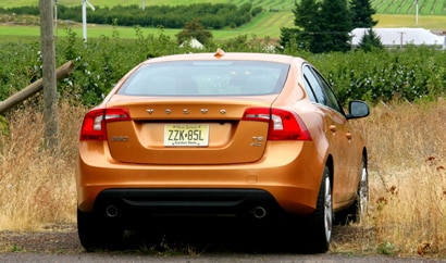 A rear view of a 2011 Volvo S60