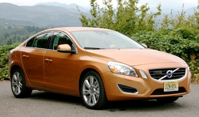 A three-quarter front view of a 2011 Volvo S60