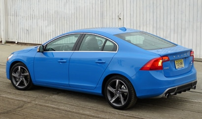 A three-quarter rear view of a 2013 Volvo S60 T6 AWD R-Design