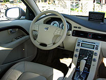An interior view of the 2007 Volvo S80 V8