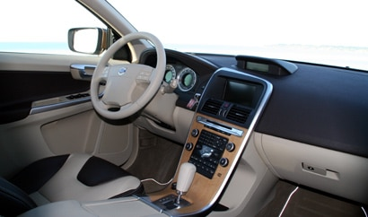 An interior view of the 2010 Volvo XC60