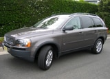 A three-quarter front view of a 2005 Volvo XC90