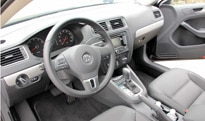 A look at the interior of the 2011 Volkswagen Jetta