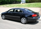 A three-quarter rear view of a 2006 Volkswagen Phaeton W12