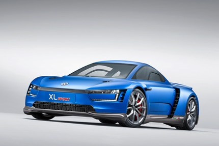 The beautiful Volkswagen XL Sport Concept at the 2014 Paris Motor Show