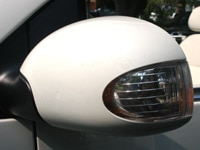 VW Triple White New Beetle Mirror