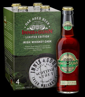 Innis & Gunn Irish Whiskey Cask is a limited edition Scottish stout aged in Irish whiskey barrels