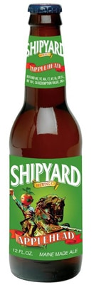 Shipyard Brewing Applehead is infused with apple juice